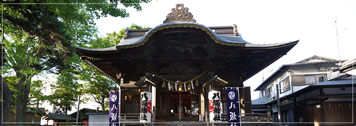 市指定文化財 八坂神社(本殿・拝殿)